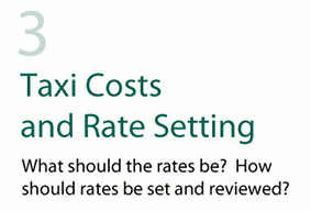Taxi Costs and Rate Setting